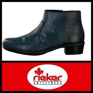 RIEKER Eagle Women's Ankle Boot Blue